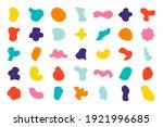 organic colorful blobs random...   Shutterstock .eps vector #1921996685
