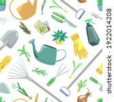 gardening theme  tools  potted... | Shutterstock .eps vector #1922014208