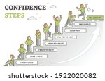 confidence steps as motivation... | Shutterstock .eps vector #1922020082