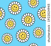 seamless retro positive flower... | Shutterstock .eps vector #1922024945