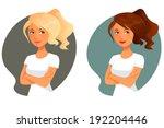 cute cartoon illustration of a... | Shutterstock .eps vector #192204446