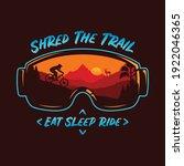 vector mountain biking...   Shutterstock .eps vector #1922046365