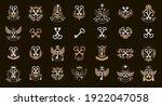 vintage keys vector logos or... | Shutterstock .eps vector #1922047058