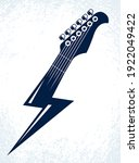 Electric Guitar Headstock In A...