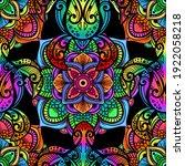 sea turtle in psychedelic...   Shutterstock .eps vector #1922058218