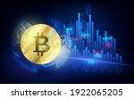 bitcoin currency. crypto coin... | Shutterstock .eps vector #1922065205