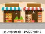 roadside fruit vegetable store...   Shutterstock .eps vector #1922070848