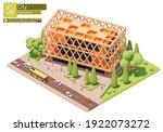 vector isometric modern office...   Shutterstock .eps vector #1922073272