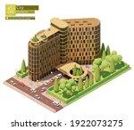 vector isometric modern hotel...   Shutterstock .eps vector #1922073275
