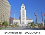 los angeles city hall  downtown ... | Shutterstock . vector #192209246