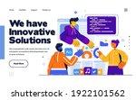 presentation slide template or... | Shutterstock .eps vector #1922101562