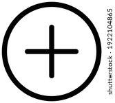 add glyph flat circle icon  add ... | Shutterstock .eps vector #1922104865