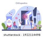 orthopedics doctor. idea of... | Shutterstock .eps vector #1922114498
