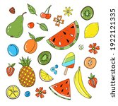 large vector set with summer... | Shutterstock .eps vector #1922121335