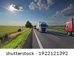 Truck Transport On The Road At...