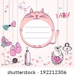 cute hand drawn  frame with... | Shutterstock .eps vector #192212306