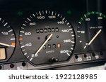 Old Car Speedometer. Speed...