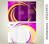 brochure design template... | Shutterstock .eps vector #192215972