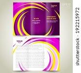 brochure design template... | Shutterstock .eps vector #192215972