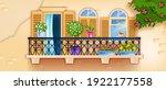 spring vector balcony window ...   Shutterstock .eps vector #1922177558