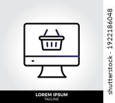 online shopping icon in trendy...