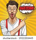 pop art retro vintage man young ...   Shutterstock .eps vector #1922203445