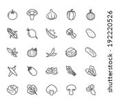 set of outline stroke vegetable ... | Shutterstock .eps vector #192220526