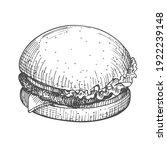 burger hand drawn. vector... | Shutterstock .eps vector #1922239148