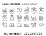 money flow  square line icon...   Shutterstock .eps vector #1922247188