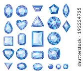 set of realistic blue jewels.... | Shutterstock .eps vector #192224735