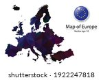 abstract polygon map and button ... | Shutterstock .eps vector #1922247818