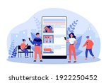 tiny people choosing house... | Shutterstock .eps vector #1922250452
