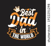 best dad in the world   father... | Shutterstock .eps vector #1922251298