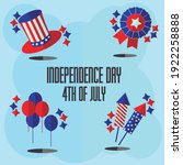 july 4. united states... | Shutterstock .eps vector #1922258888