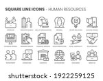 human resources  square line...   Shutterstock .eps vector #1922259125