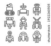 robot icons set vector...   Shutterstock .eps vector #1922260505