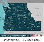 vector of idaho  oregon and...   Shutterstock .eps vector #1922261288
