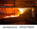 work process in metallurgical at manufacture of steel plant