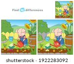 happy piglet is watering... | Shutterstock .eps vector #1922283092