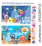 find 10 hidden objects in the... | Shutterstock .eps vector #1922284715