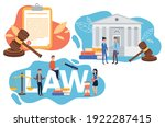 collection of law justice... | Shutterstock .eps vector #1922287415