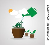 water can watering green eco... | Shutterstock .eps vector #192228995