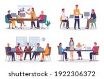 office staff  work and... | Shutterstock .eps vector #1922306372
