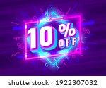 cyber 10 off sale banner  light ... | Shutterstock .eps vector #1922307032