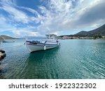 Elounda Pier With White Boat ...