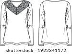 vector long sleeved women t...   Shutterstock .eps vector #1922341172