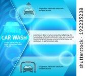Car Wash Blue Light Background...