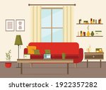 living room interior with... | Shutterstock .eps vector #1922357282