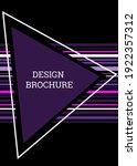 geometric cover design.... | Shutterstock .eps vector #1922357312