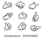 set of hand gestures in cartoon ... | Shutterstock . vector #192235832